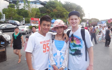 Jake Grayson (right) had the opportunity to spend some time in China this summer.