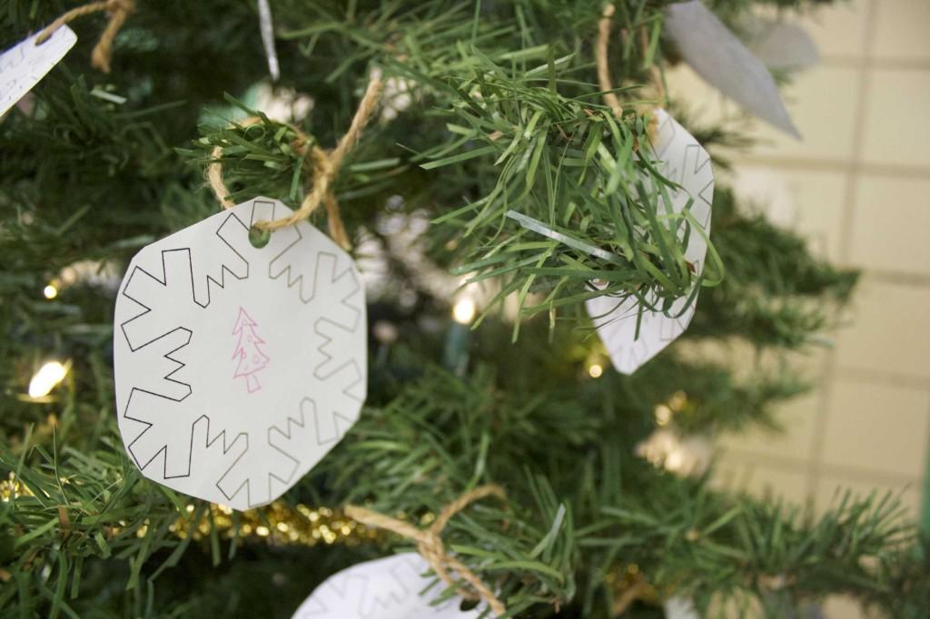 A+snowflake+hangs+from+the+%22Giving+Tree%2C%22+symbolizing+another+gift+from+a+Bearden+student.