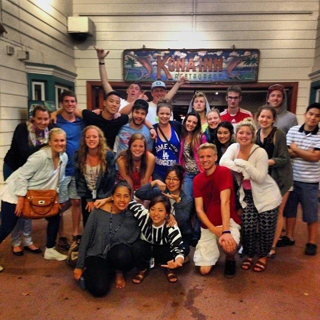 Abby Overholt (third from the left, middle row) graduated from Bearden in December and is now a part of YWAM in Hawaii.