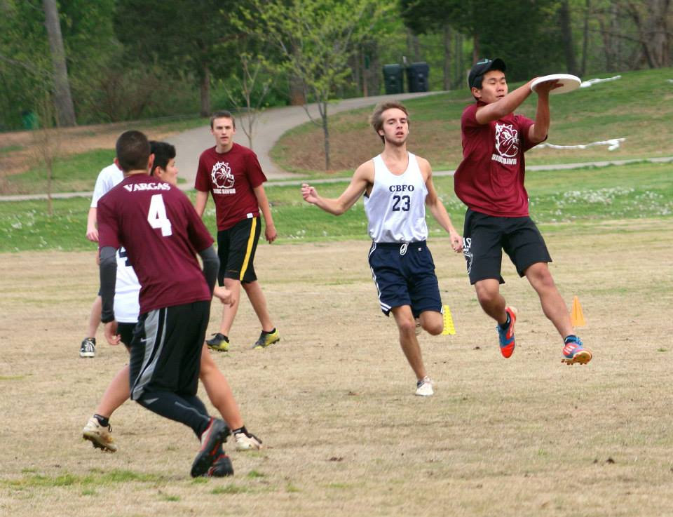 Bearden senior captain Matt Sui makes a catch in a recent ultimate game. Sui and the Disc Dogs are headed to state on Saturday.