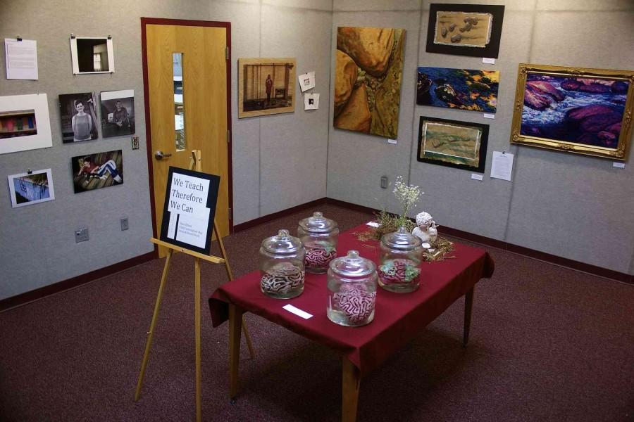 Bearden's art gallery currently features a collection of works from all three of the school's art teachers.