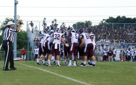 Bearden huddles up before a play this year. The Bulldogs rivalry with Farragut will stay alive in 2015.
