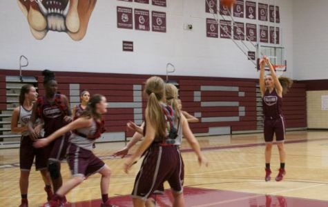 Senior Olivia Pfeifer takes a jump shot in practice last week.