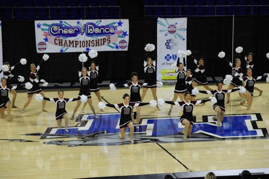The Bearden dance team performs its third place pom routine; the Lady Bulldogs also won state in the jazz category.