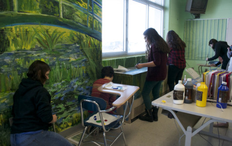 NAHS students finish up their replica of Claude Monet's
