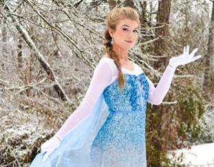 Bearden senior Merrielle Luepke poses as Disney princess Elsa during one of the February snow days.