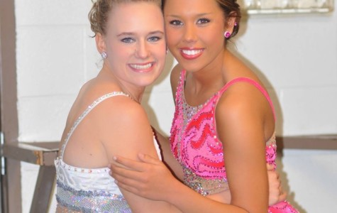 Bearden seniors Anastasia Mitchell (left) and Brittany Collins (right) were all smiles after finding out they were selected for next year's majorette line.