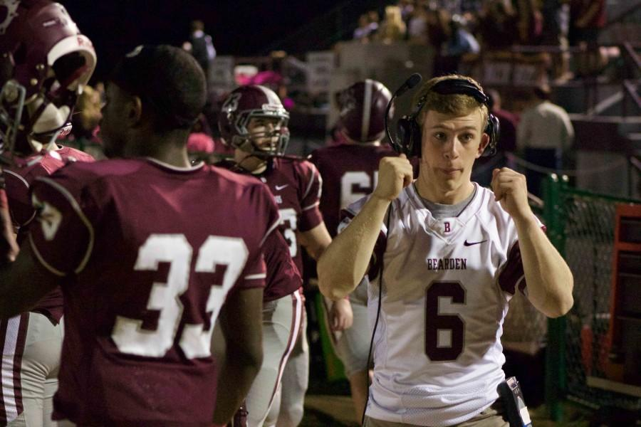 Senior Eli Derrington has had to quit playing football, but he's finding other ways to contribute.
