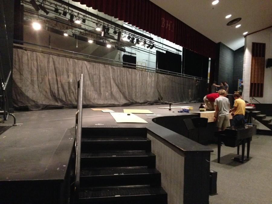This year's set will be significantly darker than previous BHS musical theater productions.