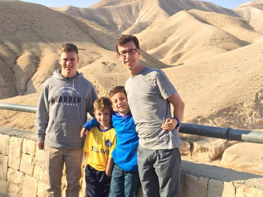 Bearden senior Eli Derrington poses with members of his family at sea level on their way to Masada in the Judaean desert.
