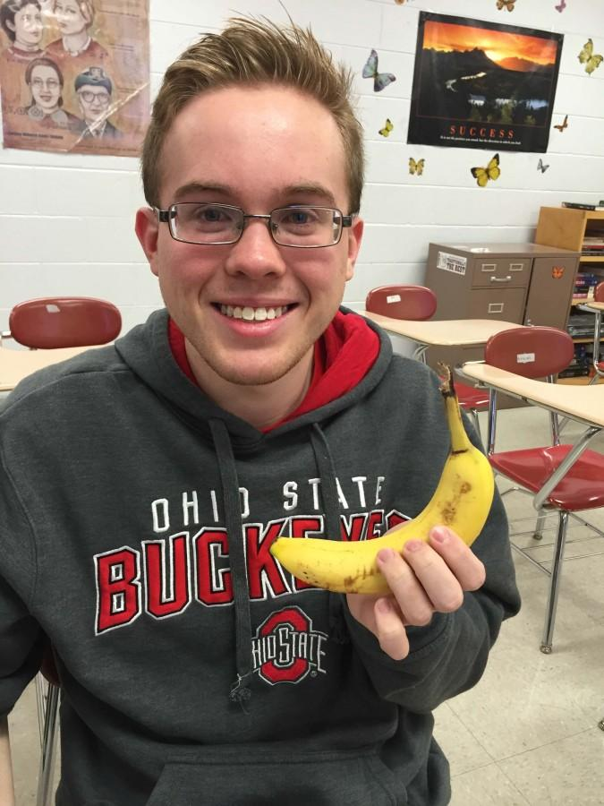 Tyler Hotz eats a banana every morning for breakfast, and he wants everybody to know it.