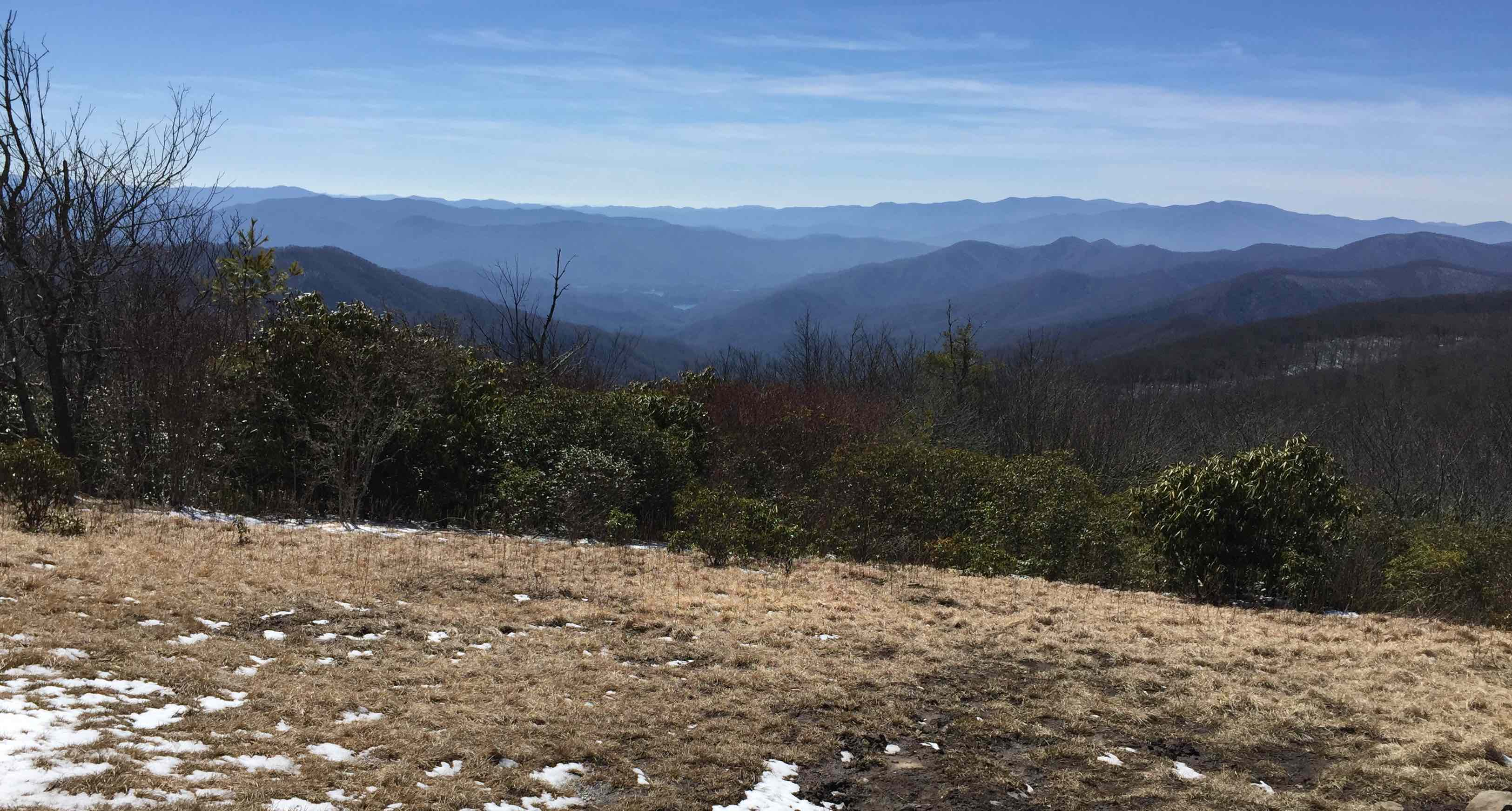 The Bearden Hiking Club always ends up in great photo op locations, such as this view from Spence Field on the club's March hike.