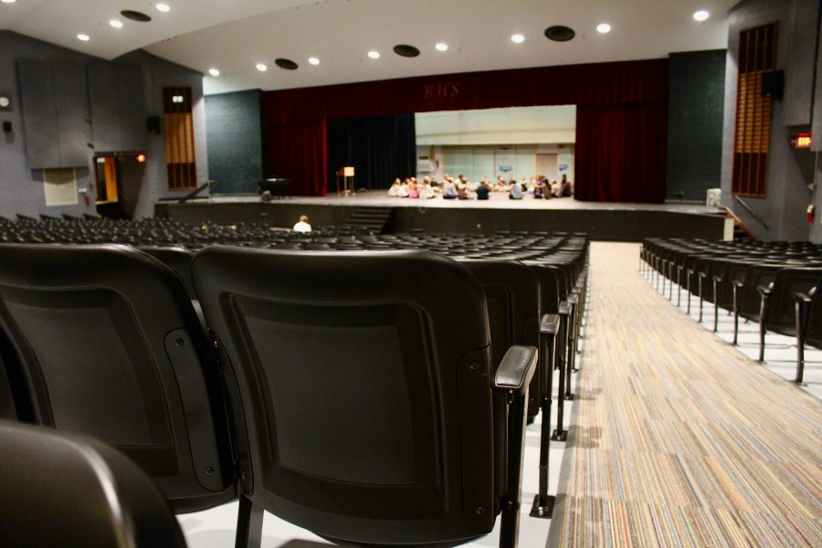 The new seats are the most visible of the many upgrades to the auditorium.