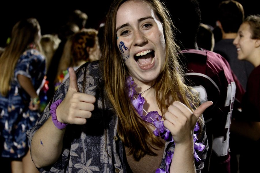 SGA vice president Maggie Kimber celebrates after Bearden's win against Karns this year.