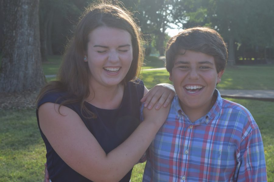 Sophomores Eva Karnowski and Hayden Harb are working hard on Bearden's campaign to host the 2018 TASC Convention.