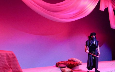 Pedro Lima designed the set for Bearden's production of Arabian Nights and also has a role in the show.