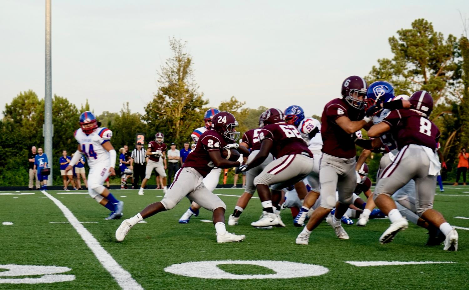 Bearden's running game has improved as the season has progressed, highlighted by DJ Cox's 117 rushing yards last week against South Doyle.