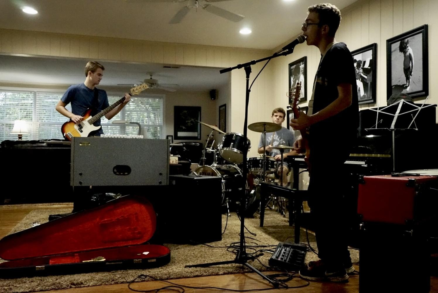 Bearden seniors Lucas Baudry (guitar) and Nathaniel Blalock (drums) formed the band Cabbage College this summer.