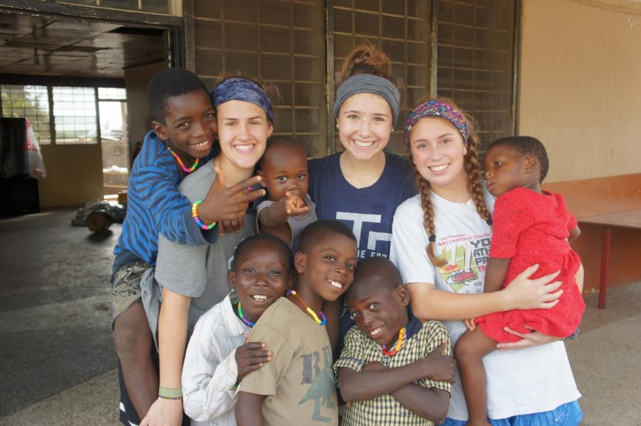 Bearden+students+Emily+Carlevato+%28left%29%2C+Kendall+Scott+%28middle%29%2C+and+Chandler+Alaniz+%28right%29+spent+a+week+in+Ghana+over+winter+break.