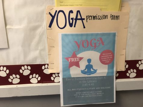 Yoga Club provides stress relief at no cost for students, staff