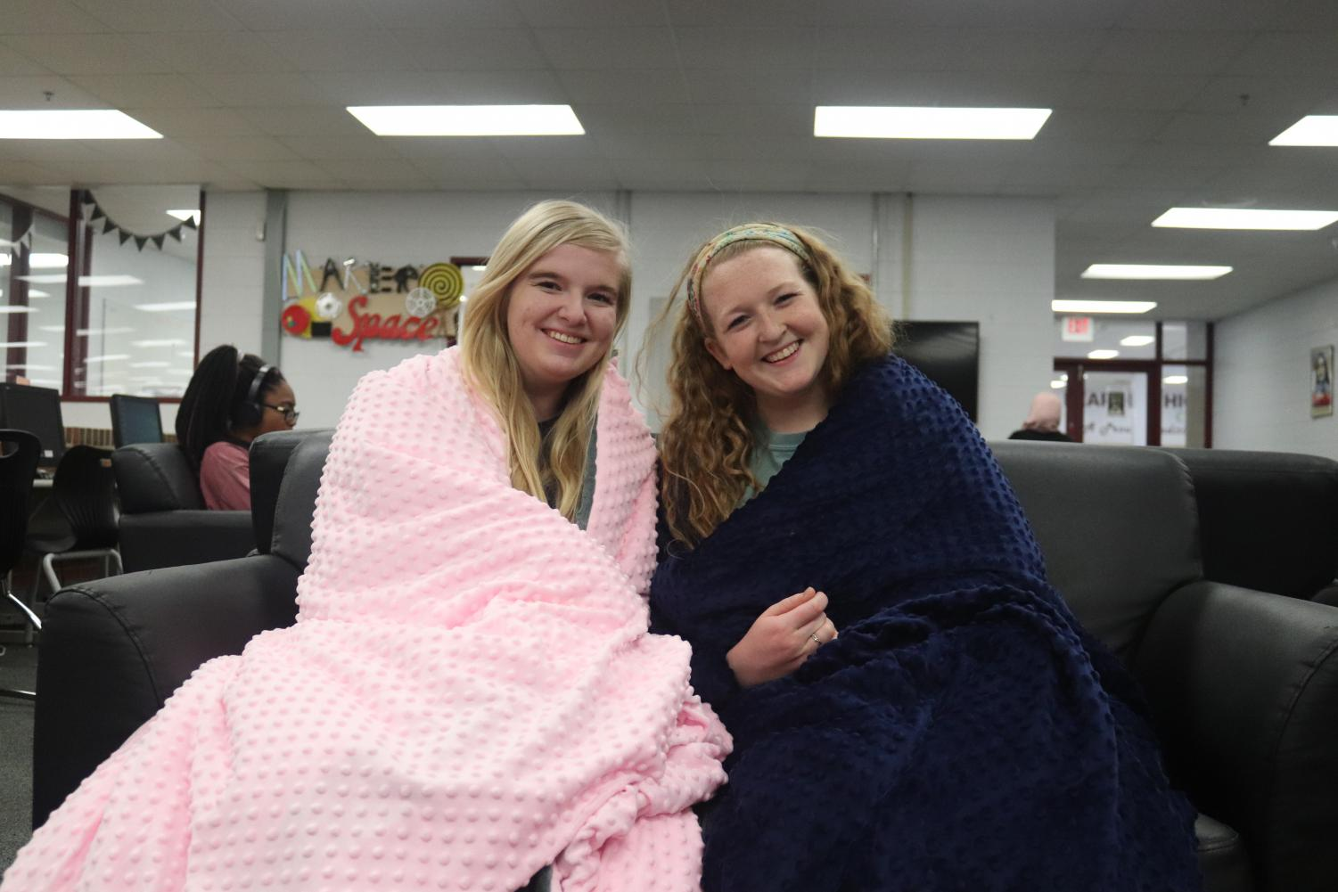 Holly Walker and Lydia Steimer are completely on board with the new weighted blanket trend.