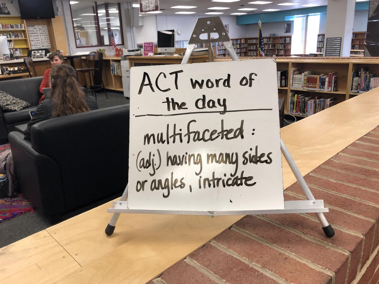 The library posts its ACT Word of the Day.