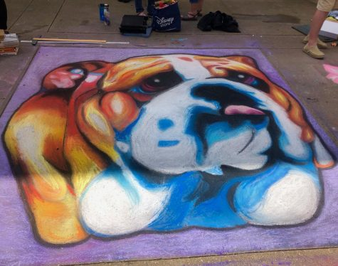 Bearden contributed this colorful bulldog to the Dogwood Festival