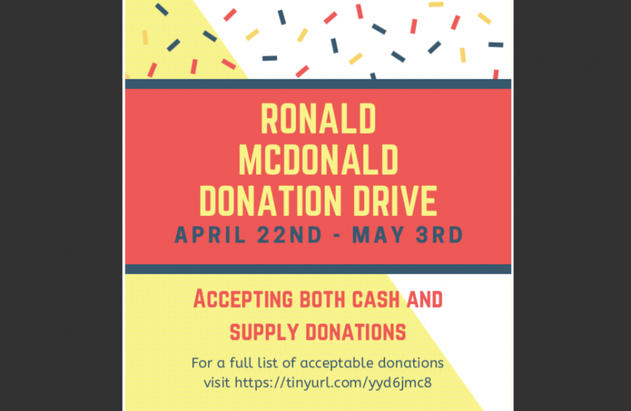 SGA students collecting donations to benefit Ronald McDonald House