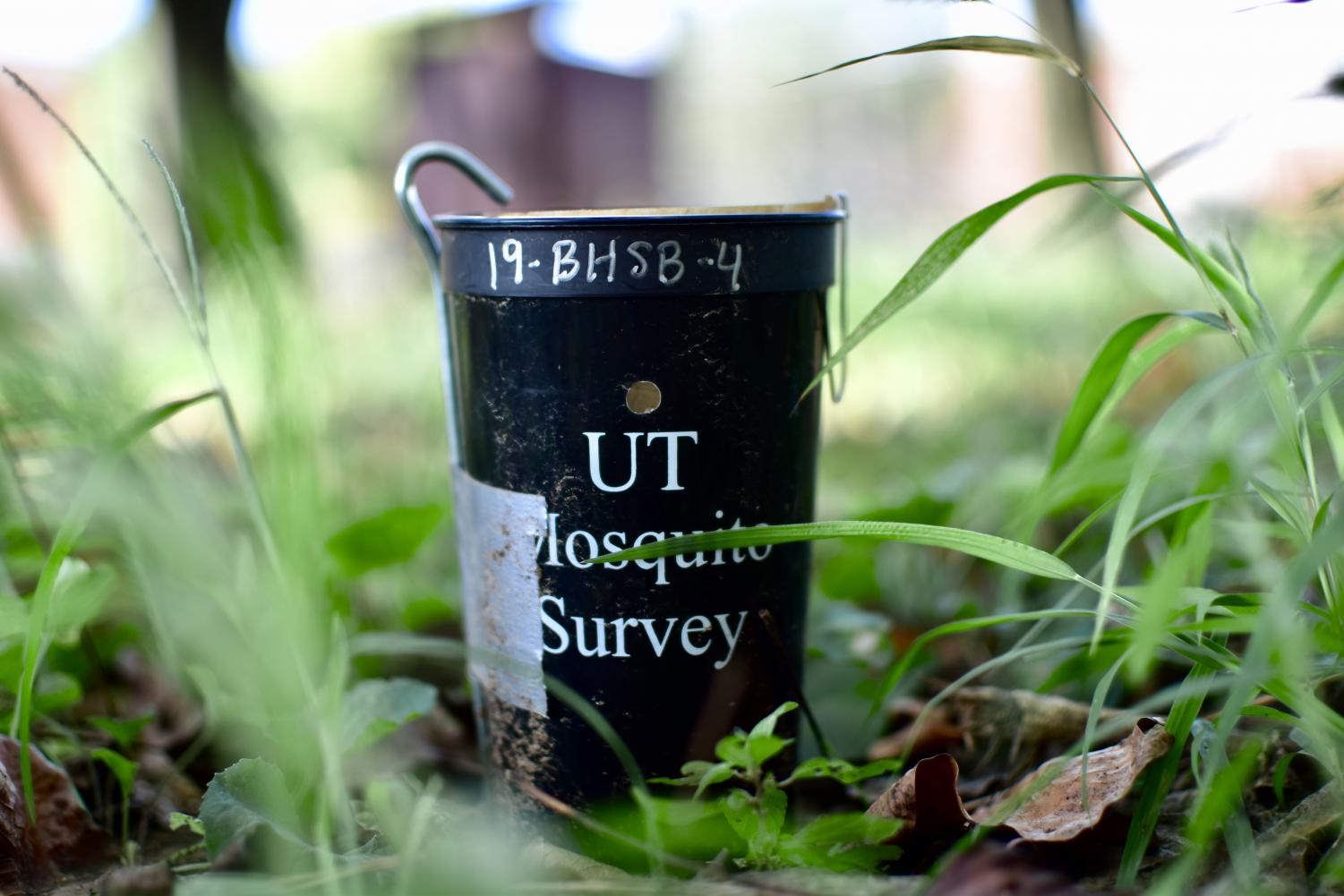 Cups like this one are located around campus, and Bearden students are getting hands-on experience in helping UT with its data collection.