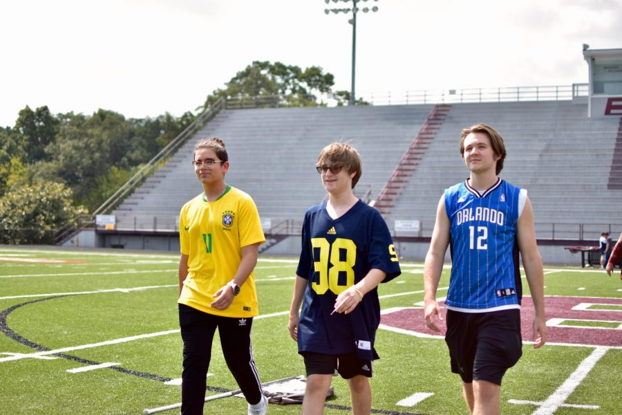 Bearden's homecoming king candidates rehearse Wednesday for Friday night's festivities.
