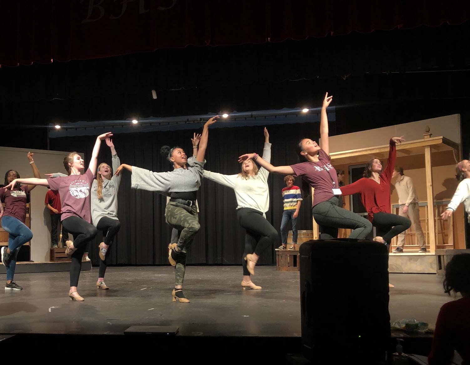 The cast of Crazy For You rehearses this week. The cast will be a big part of the events at the theatre department's first ever Fall Fling on Saturday.
