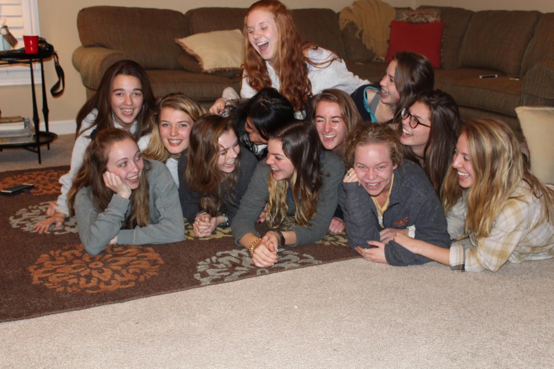 A group of Bearden students celebrates Friendsgiving last year.