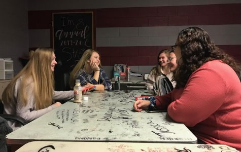 Dawgathon club members work on plans for next semester's big fundraising event.