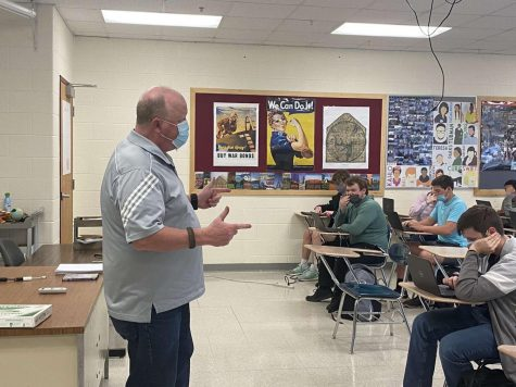 Mr. Dave Gaddis substitutes in the Bearden social studies department.
