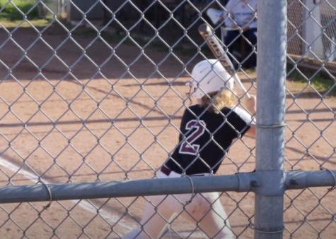 Senior Bradynn Belcher waits for a pitch during a game last spring.