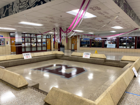 Beardens campus is decorated in anticipation of Friday nights homecoming dance.